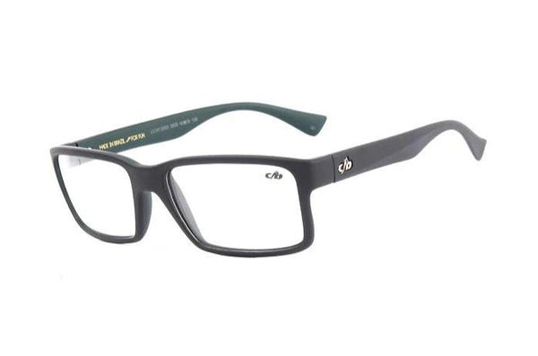 Square Optical Glasses Dark Grey Nylon