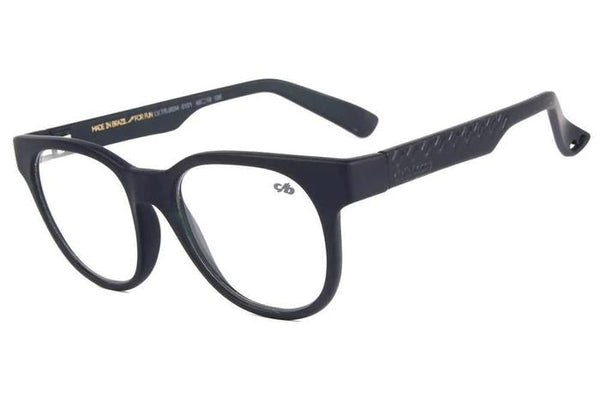 Round Optical Glasses Black Tr90