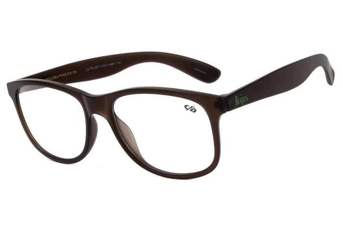 Beatles Square Optical Glasses Black Tr90