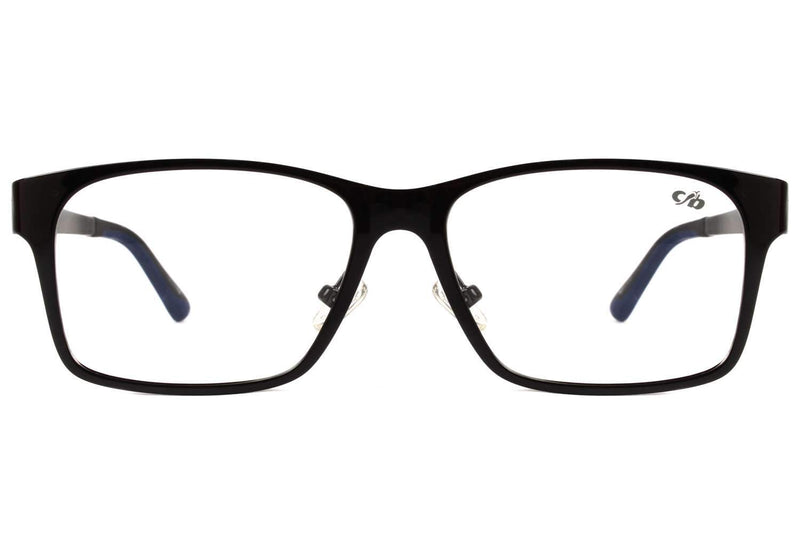 Square Optical Glasses Black Ultem