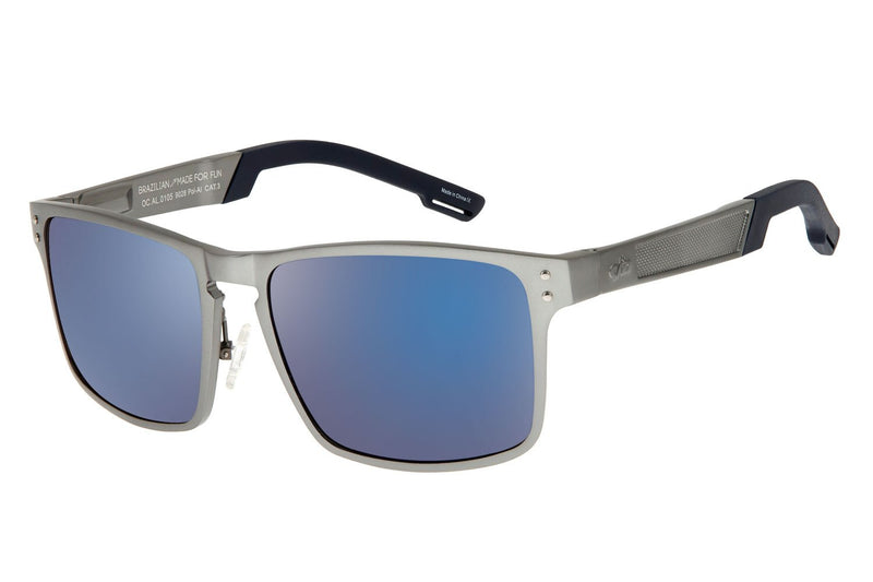 Square Sunglasses Dark Blue Aluminium