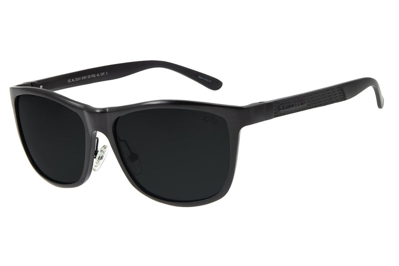 Square Sunglasses Black Aluminium