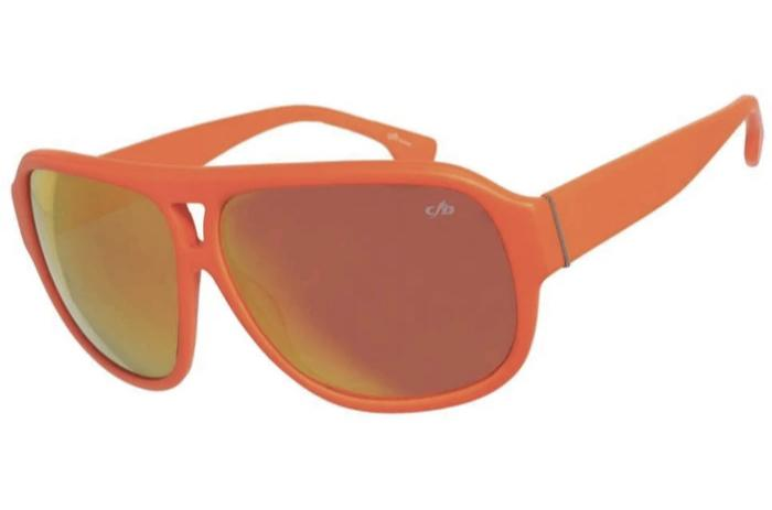 Solids Aviator Sunglasses Orange Acetate