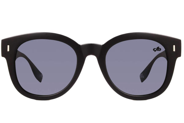 90'S Round Sunglasses Black Polycarbonate