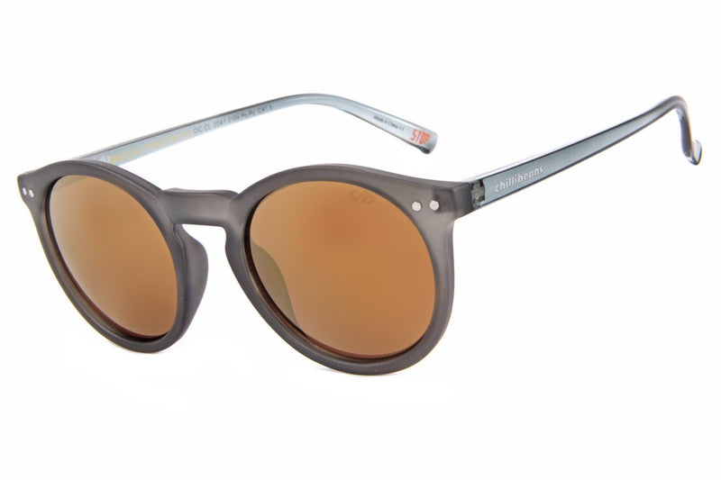 Play Round Sunglasses Golden Polycarbonate