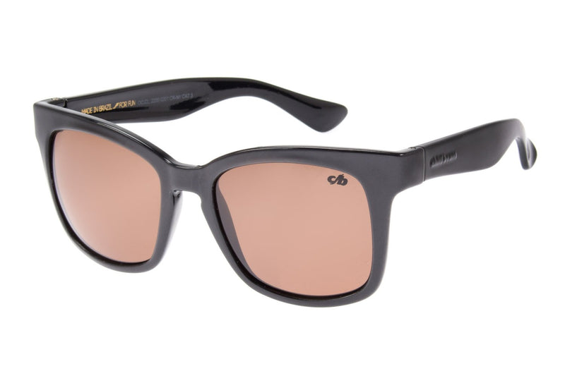 Square Sunglasses Brown Nylon