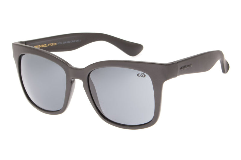 Square Sunglasses Gray Nylon