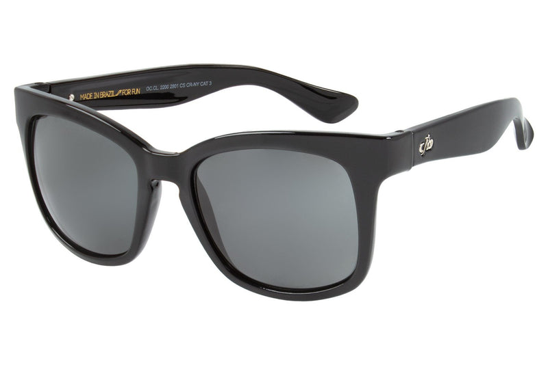 Square Sunglasses Dark Grey Nylon