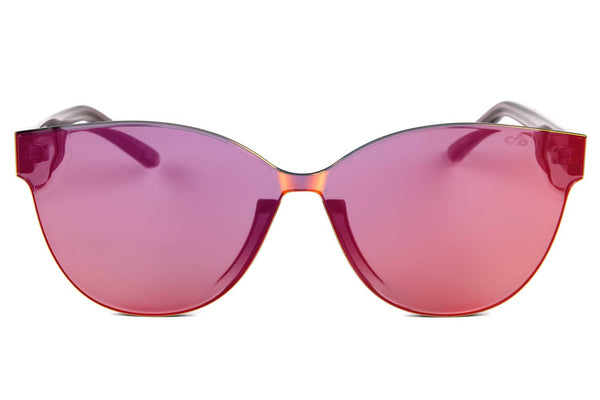 Cat Eye Sunglasses Women Mirrored Red Lenses - OC.CL.2273-9204