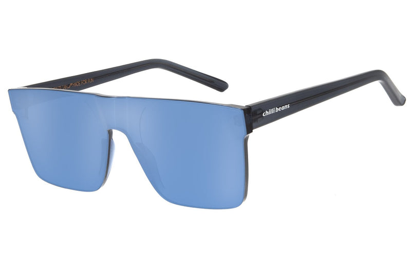 Block Square Sunglasses Silver Polycarbonate