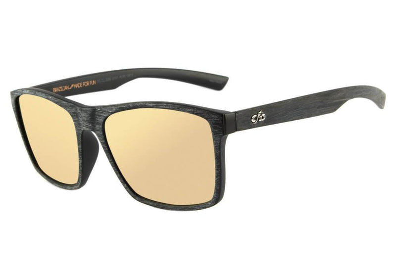 Spray Square Sunglasses Golden Polycarbonate