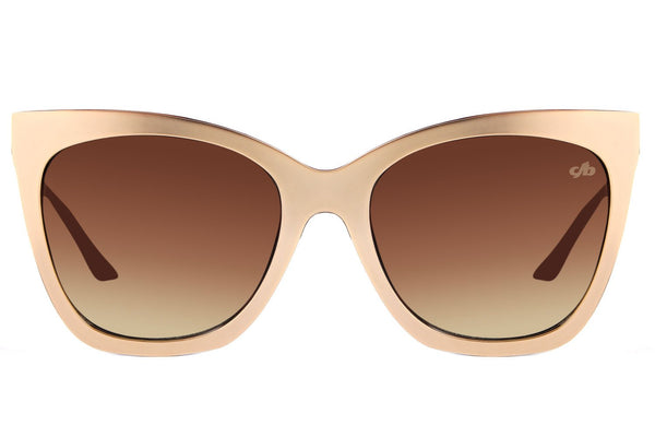 4 Elements Square Brown Golden Sunglasses by Chilli Beans