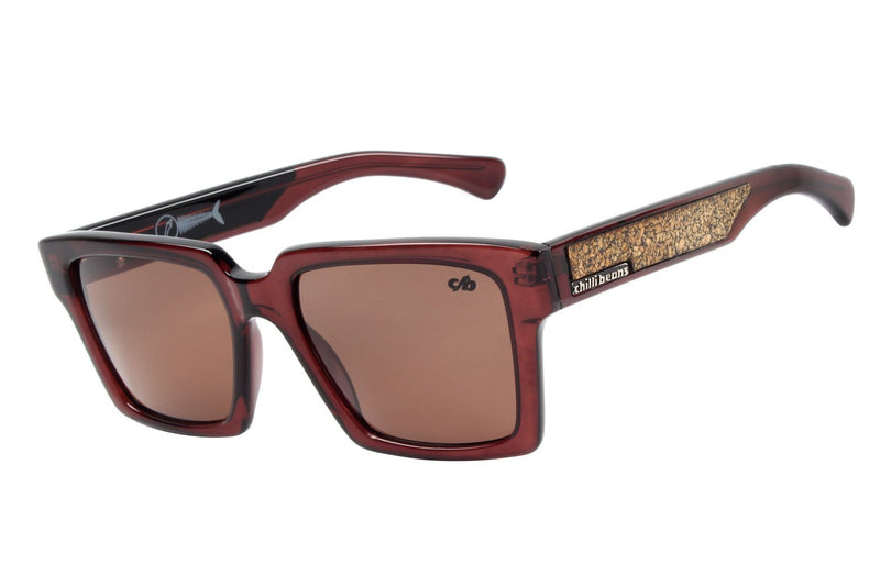 Surf Square Sunglasses Brown Acetate