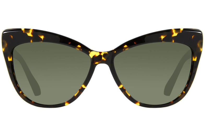 Cat Eye Sunglasses Green Acetate