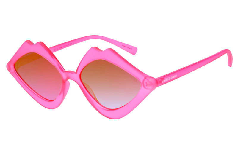 Lip Shaped Sunglasses Pink Polycarbonate