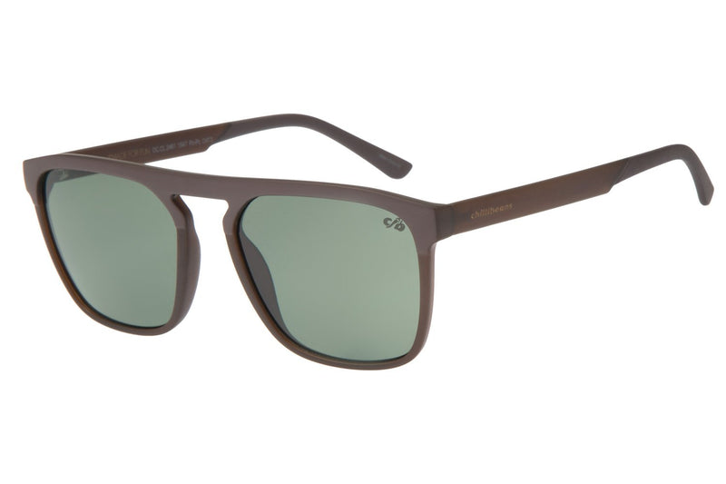 Square Sunglasses Green Polycarbonate