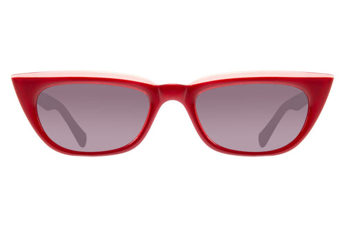 Vintage Cat Eye Grey Red Sunglasses by Chilli Beans