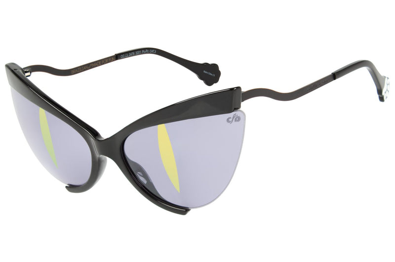 Dudu Bertholini Cat Eye Sunglasses Mirrored Polycarbonate