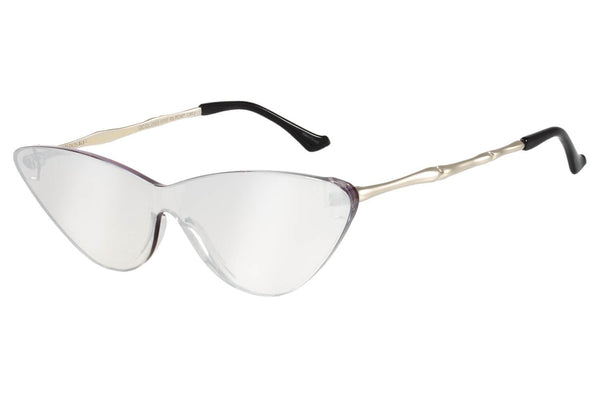 Cat Eye Sunglasses Silver Polycarbonate