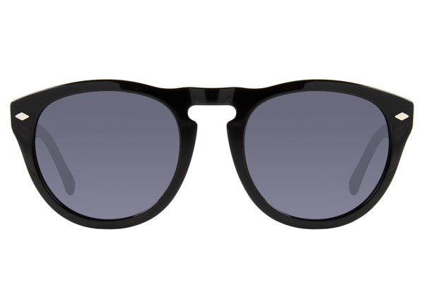 Vintage Round Acetate Black Sunglasses by Chilli Beans