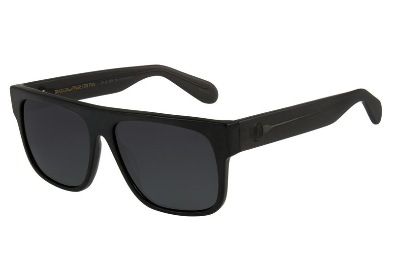 Square Sunglasses Gray Acetate