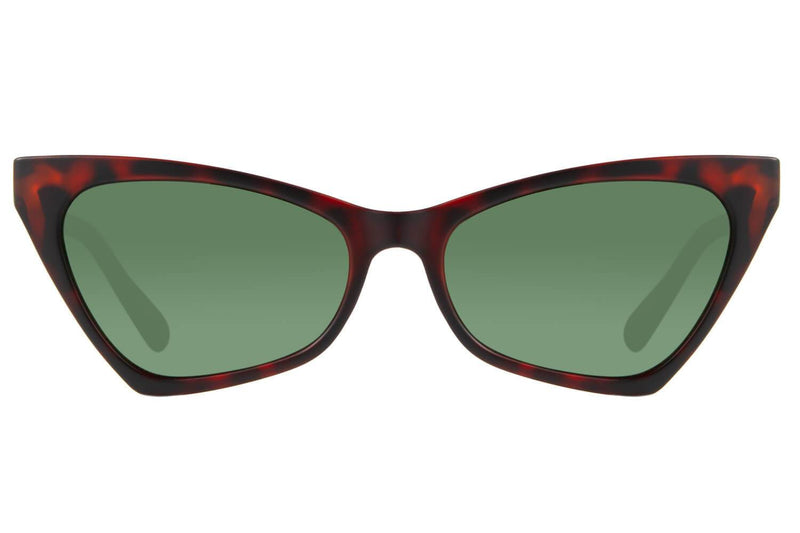 Cat Eye Retro Sunglasses Women Green Polycarbonate - OC.CL.2522-1506