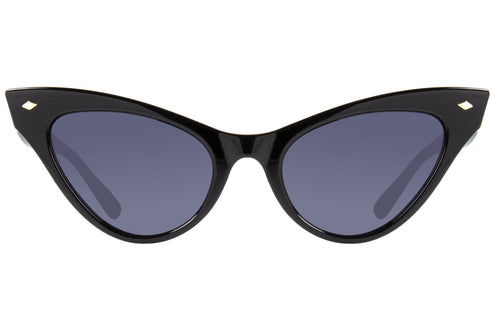 Vintage Cat Eye Glossy Black Sunglasses by Chilli Beans