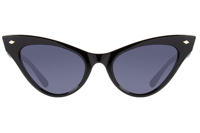 Vintage By Marcelo Sommer Cat Eye Sunglasses Black Polycarbonate