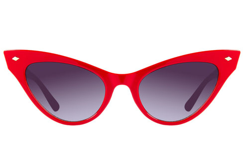 Vintage Cat Eye Gradient Red Sunglasses by Chilli Beans