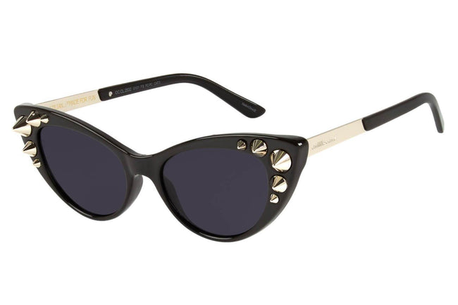 Skulls Special Cat Eye Black Sunglasses by Chilli Beans