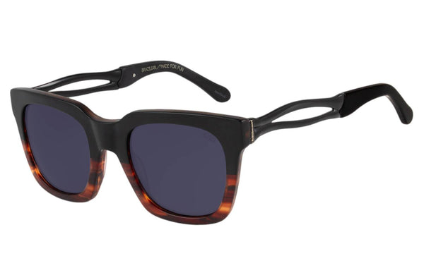 Skulls Square Gradient Black Sunglasses by Chilli Beans