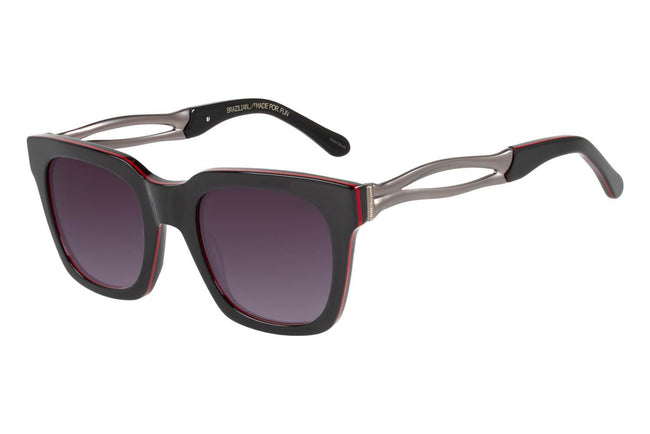 Skulls Square Grey Black Sunglasses by Chilli Beans