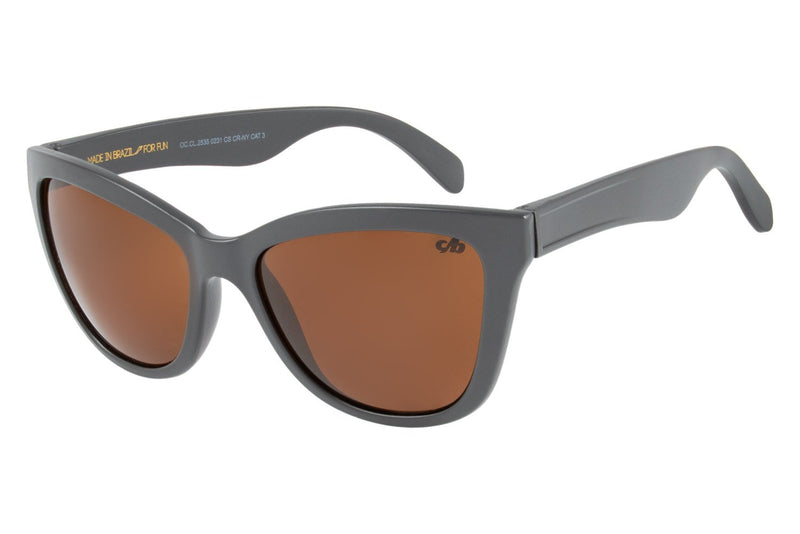 Cat Eye Sunglasses Brown Nylon