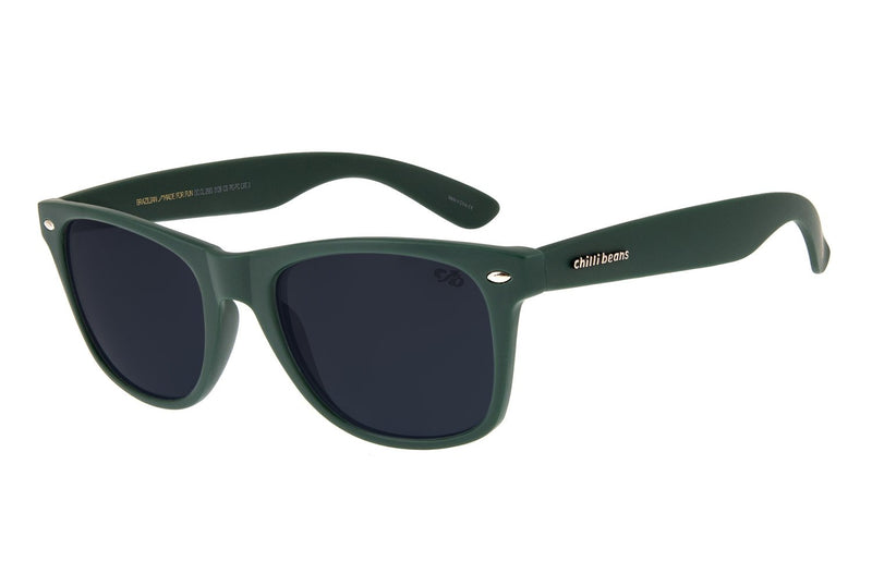Bossa Nova Sunglasses Dark Green Polycarbonate