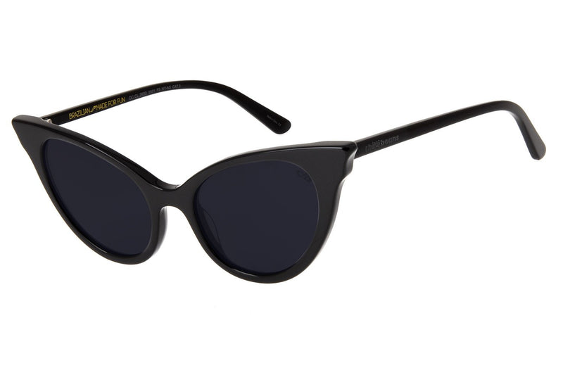 Cat Eye Sunglasses Black Acetate
