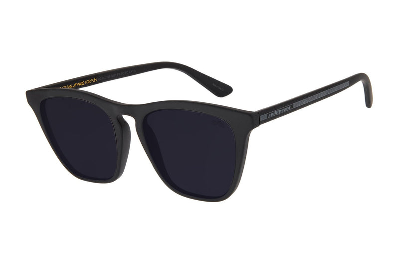 Street Art - Cranium Cat Eye Sunglasses Black Polycarbonate