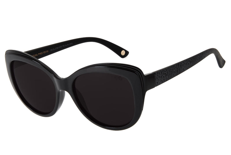 Blk Collection Round Sunglasses Black Polycarbonate
