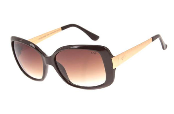 Square Sunglasses Dark Brown Polycarbonate