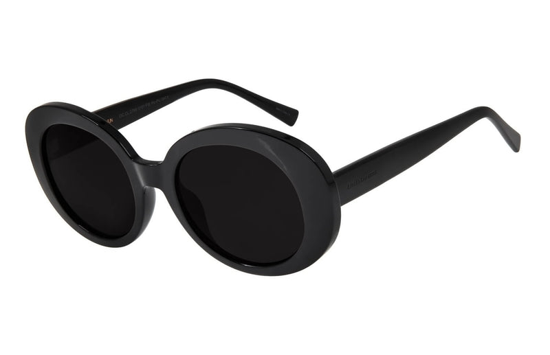 Round Sunglasses Black Polycarbonate