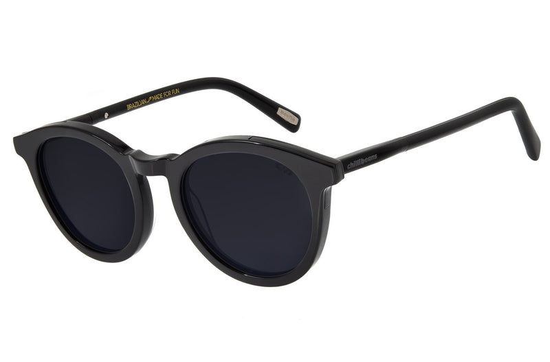 Motor Club Round Sunglasses Black Acetate