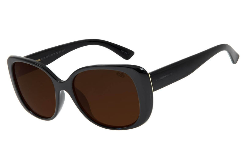 Square Sunglasses Black Polycarbonate