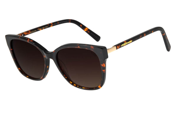 Square Sunglasses Turtle Acetate