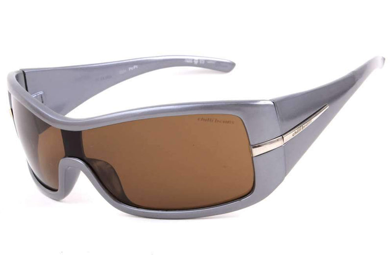 Mask Sunglasses Brown Polycarbonate