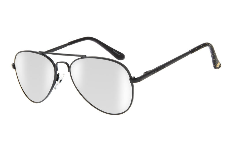 Aviator Sunglasses Black Nickel Silver