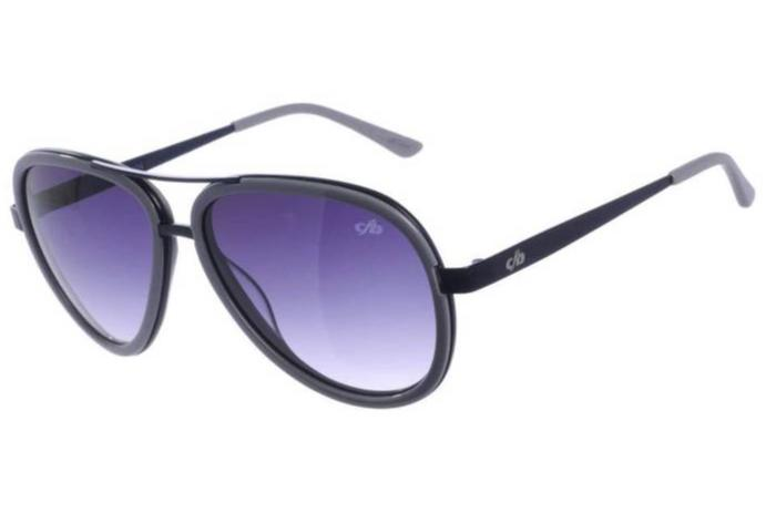 Aviator Sunglasses Gray Metal