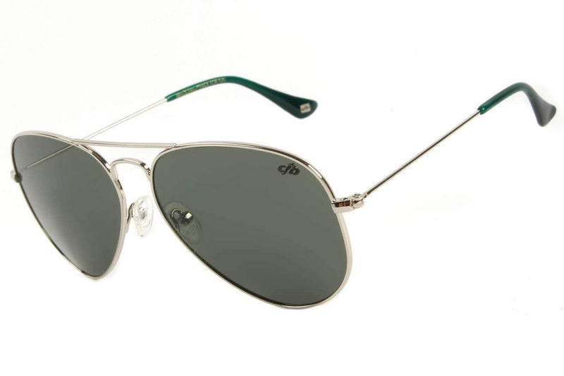 Aviator Sunglasses Green Stainless Steel