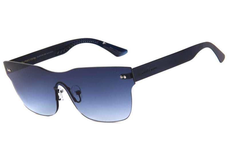 Play Mask Sunglasses Blue Stainless Steel