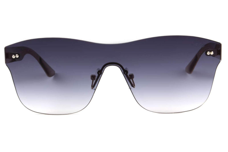 Play Square Sunglasses Gray Stainless Steel
