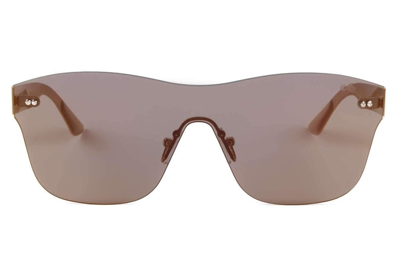 Square Sunglasses Golden Flat Lenses - OC.MT.2188-2121