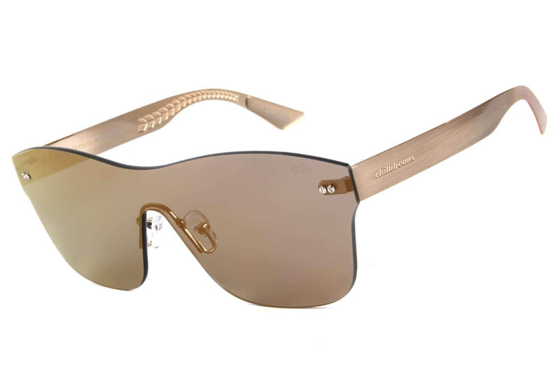 Play Square Sunglasses Golden Stainless Steel